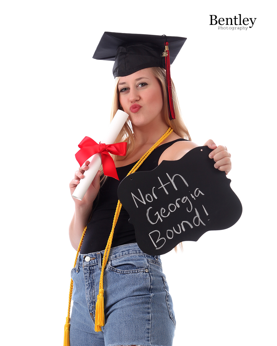 Cap and Gown - Cap and Casuals   Senior Portrait Photography
